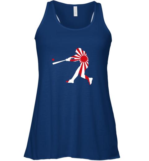 rmtx japan baseball shirt jpn batter classic nippon flag jersey flowy tank 32 front true royal