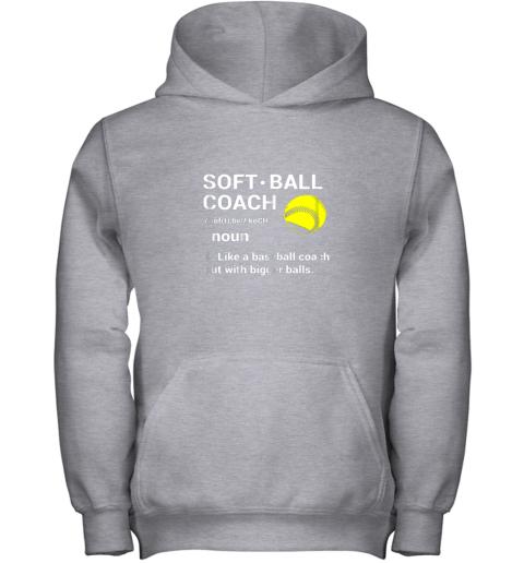 1i7t soft ball coach like baseball bigger balls softball youth hoodie 43 front sport grey