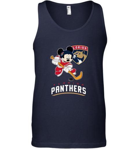 4qak nhl hockey mickey mouse team florida panthers unisex tank 17 front navy