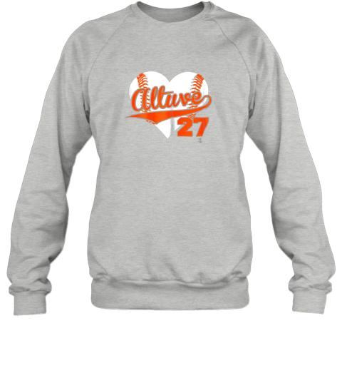 jzqw jose altuve baseball heart shirtapparel sweatshirt 35 front sport grey