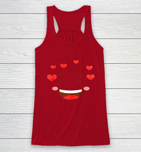 Kids Girls Valentine T Shirt Many Hearts Emoji Design Racerback Tank 4