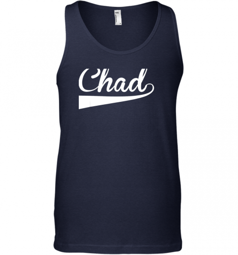 szqq chad country name baseball softball styled unisex tank 17 front navy