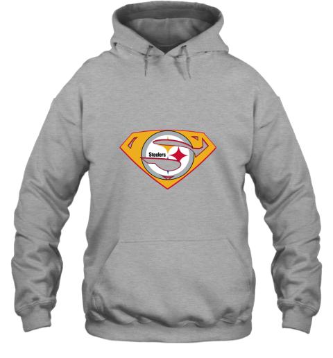 jogm superman steelers hoodie 23 front sport grey