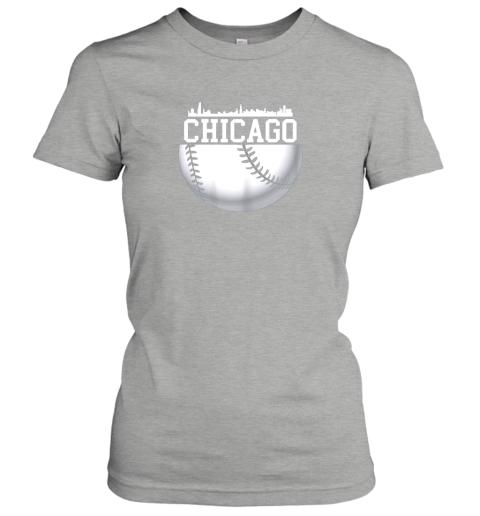 xbxy vintage downtown chicago shirt baseball retro illinois state ladies t shirt 20 front ash