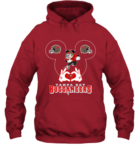 mg4g i love the buccaneers mickey mouse tampa bay buccaneers s hoodie 23 front red