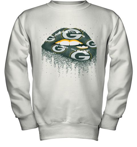 Biting Glossy Lips Sexy Green Bay Packers NFL Football Youth Sweatshirt
