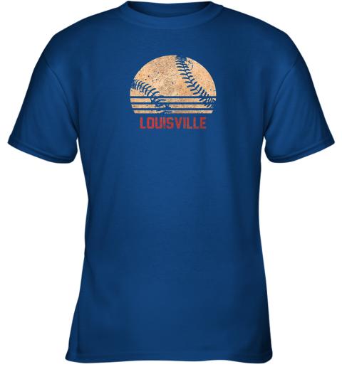 ptc3 vintage baseball louisville shirt cool softball gift youth t shirt 26 front royal