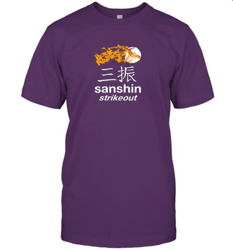 cpek japanese baseball team shirt strikeout kanji flashcard jersey t shirt 60 front team purple