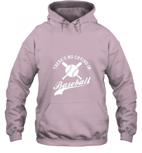 zoth there is no crying in baseball funny sports softball funny hoodie 23 front light pink