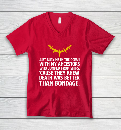 Bury Me In The Ocean With My Ancestors V-Neck T-Shirt 6