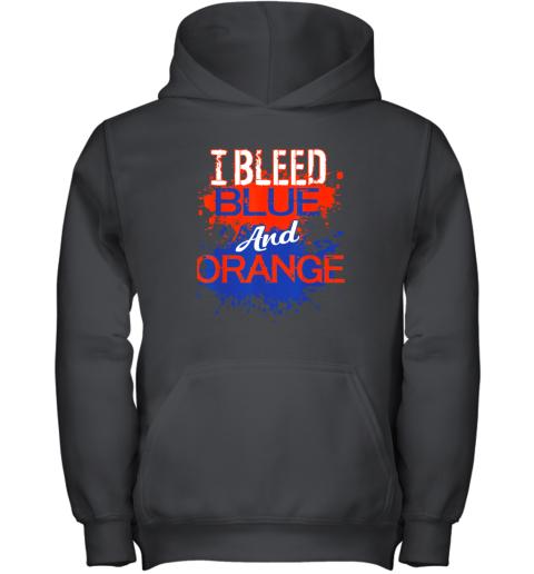I Bleed Blue And Orange Fan Shirt Football Soccer Baseball Youth Hoodie
