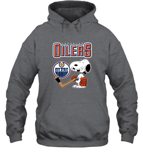 ubp1 edmonton oilers ice hockey broken teeth snoopy nhl shirt hoodie 23 front dark heather