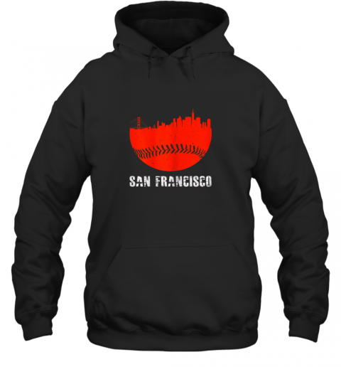 San Francisco Baseball Downtown Skyline For Fan Hoodie