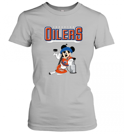 swbv mickey edmonton oilers with the stanley cup hockey nhl shirt ladies t shirt 20 front sport grey