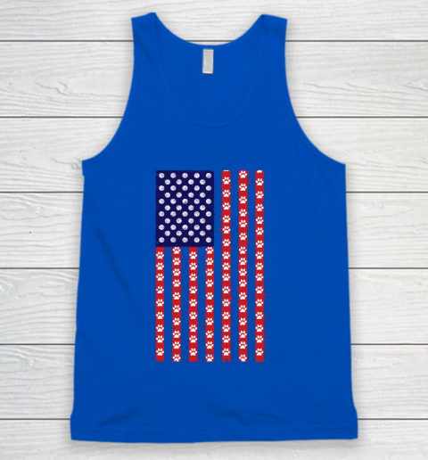 Basketball Dog Lover American Flag Tank Top 4