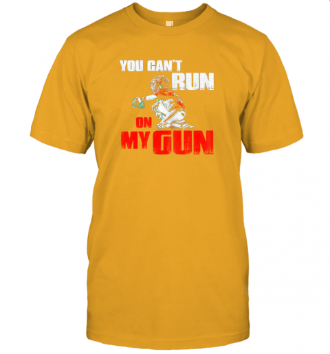 cwls you cant run on my gun shirt baseball jersey t shirt 60 front gold