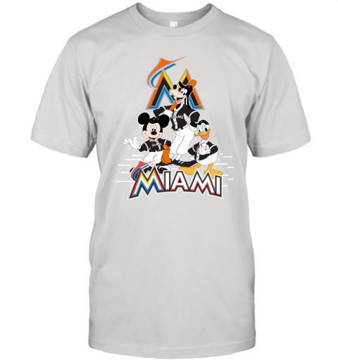 Miami Marlins Mickey Donald And Goofy Baseball Unisex Jersey Tee