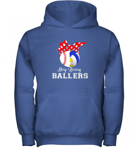 4zxv baseball volleyball busy raising ballers shirt mothers day youth hoodie 43 front royal