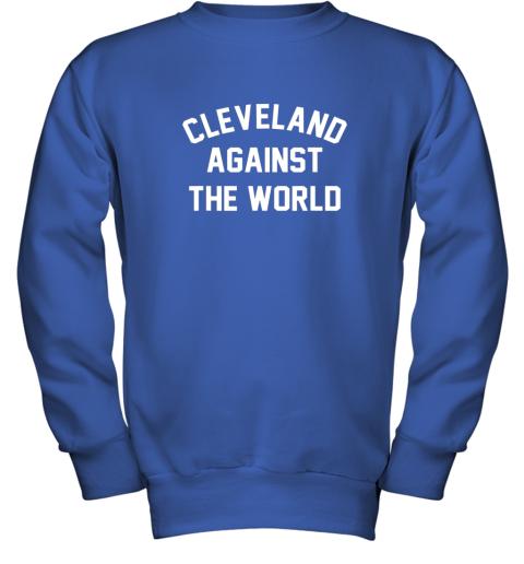 iqs9 cleveland against the world football baseball basketball youth sweatshirt 47 front royal