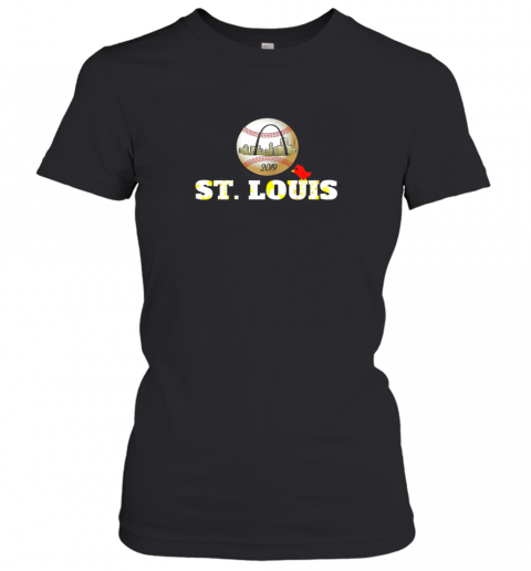 Saint Louis Red Cardinal Shirt Baseball Hometown 2019 Women's T-Shirt