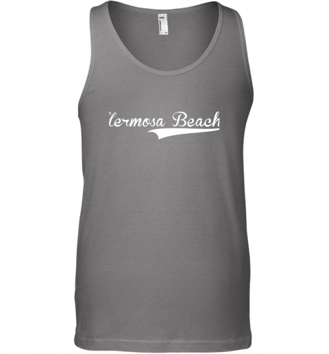 kivk hermosa beach baseball softball styled unisex tank 17 front graphite heather