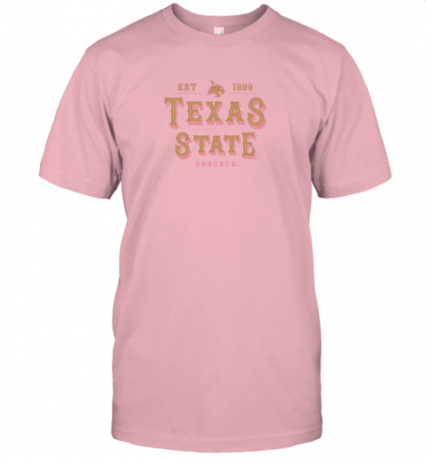 q2u1 texas state bobcats womens college ncaa jersey t shirt 60 front pink