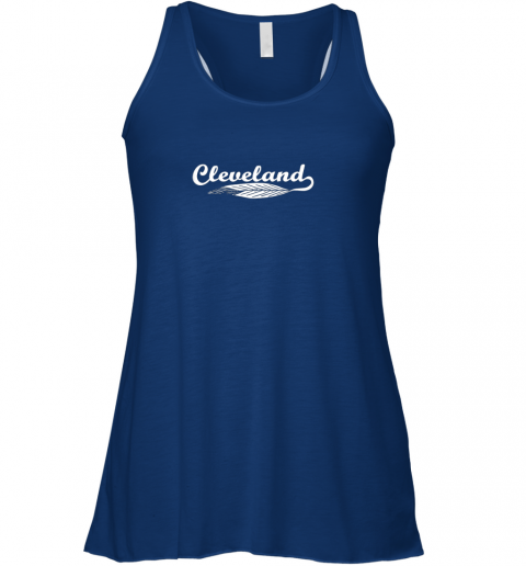y4tx cleveland shirt native american feather baseball flowy tank 32 front true royal