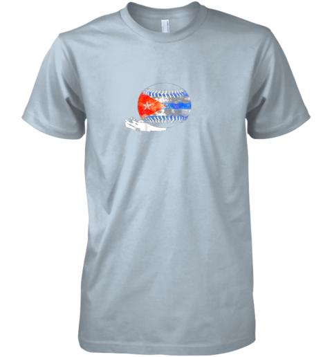 pqup vintage baseball cuba flag shirt cuban pride premium guys tee 5 front light blue