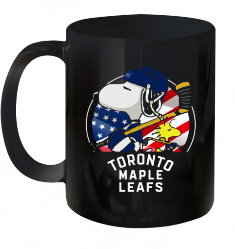 Toronto Mapples Leafs  Snoopy And Woodstock NHL Ceramic Mug 11oz