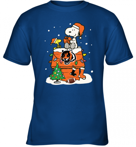 lnyb a happy christmas with cincinnati bengals snoopy youth t shirt 26 front royal