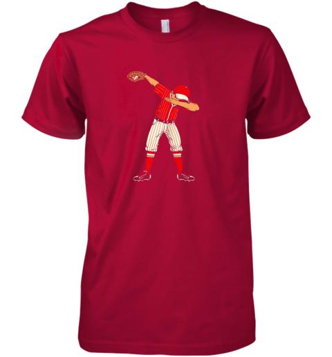 pipz dabbing baseball catcher gift shirt men boys kids bzr premium guys tee 5 front red