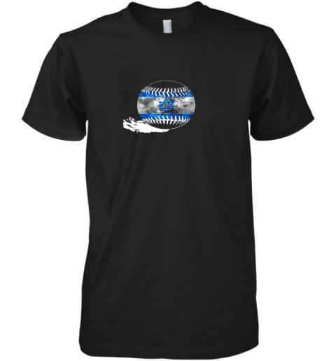 Vintage Baseball Israel Flag Shirt Israelis Pride Premium Men's T-Shirt