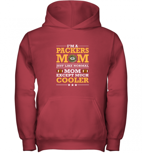 7zh0 im a packers mom just like normal mom except cooler nfl youth hoodie 43 front red