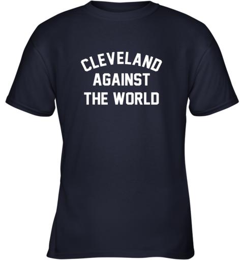 96mq cleveland against the world football baseball basketball youth t shirt 26 front navy