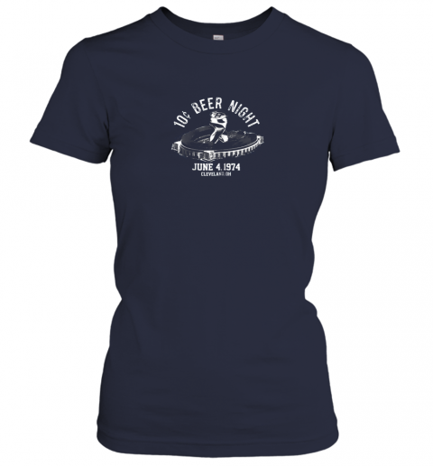 pkjt ten cent beer night cleveland cle baseball ladies t shirt 20 front navy