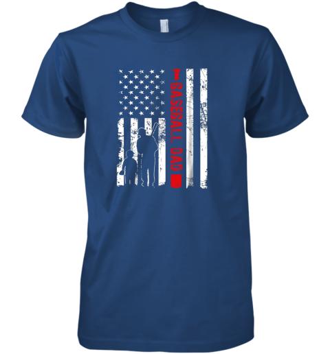 xtb5 mens proud baseball dad american flag sports premium guys tee 5 front royal
