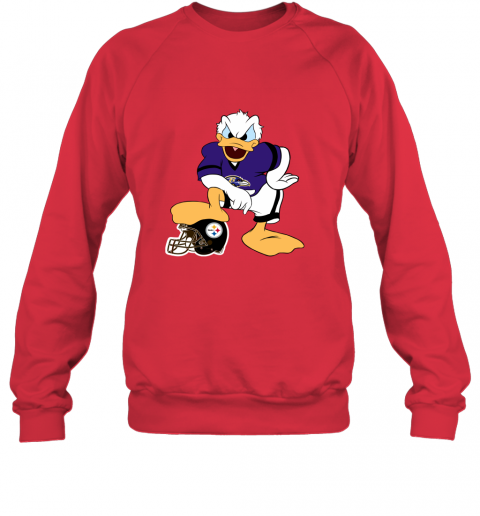 sflm you cannot win against the donald baltimore ravens nfl sweatshirt 35 front red