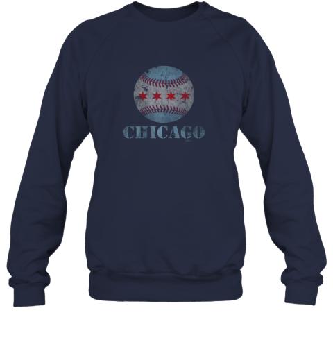 7h7m vintage chicago baseball flag sweatshirt 35 front navy