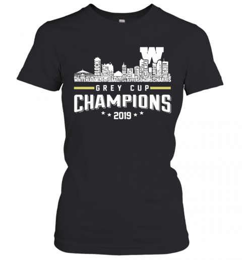 107Th Grey Cup Blue Bombers Building Players Champions 2019 Women's T-Shirt