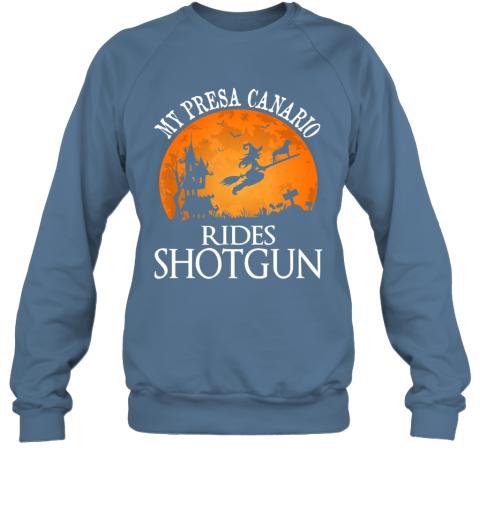 Presa Canario Rides Shotgun Dog Lover Halloween Party Gift Sweatshirt