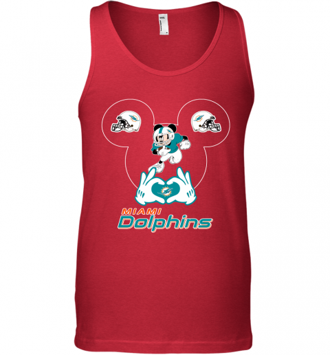 s0wz i love the dolphins mickey mouse miami dolphins unisex tank 17 front red
