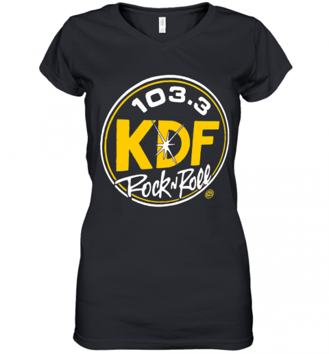 103 3 KDP Rock And Roll Women's V-Neck T-Shirt