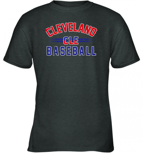 j0t5 cleveland cle baseball youth t shirt 26 front dark heather