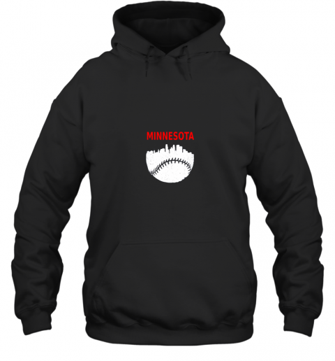 Retro Minnesota Baseball Minneapolis Cityscape Vintage Shirt Hoodie