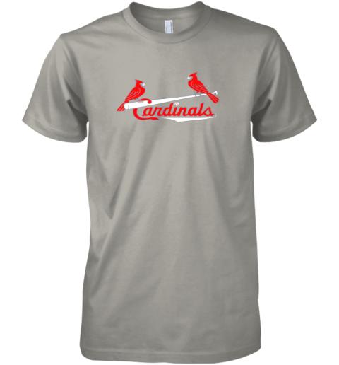my5k cardinal sports shirtst louis baseball fan premium guys tee 5 front light grey