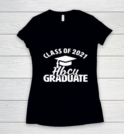 HBCU Alumni Apparel Class Of 2021 HBCU Grad Women's V-Neck T-Shirt