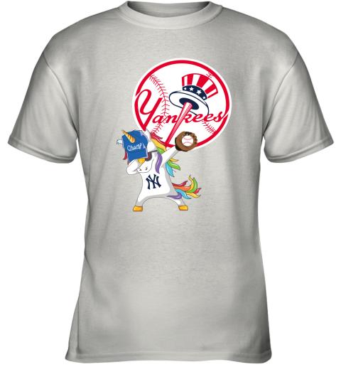 Hip Hop Dabbing Unicorn Flippin Love New York Yankees Youth T-Shirt