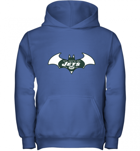 9ugy we are the new york jets batman nfl mashup youth hoodie 43 front royal