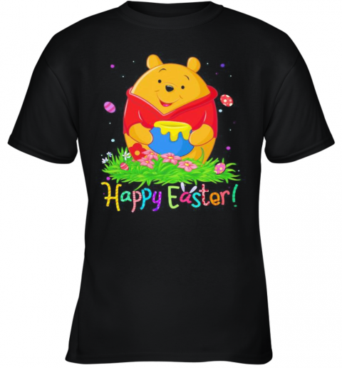 Disney Pooh Happy Easter Flower Youth T-Shirt