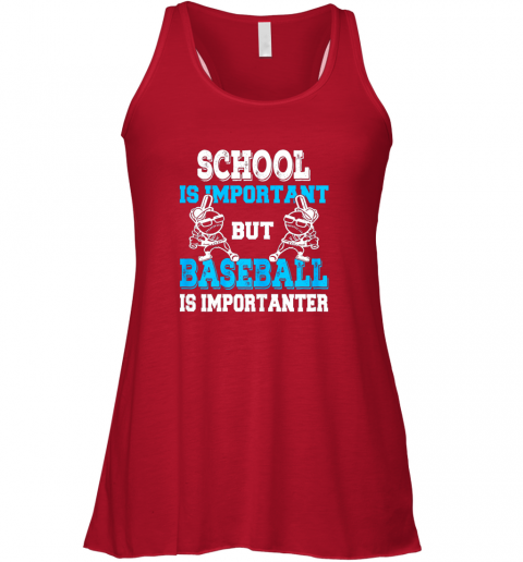 v9oj school is important but baseball is importanter boys flowy tank 32 front red